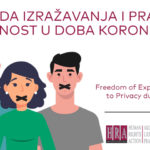 IZVJEŠTAJ: Sloboda izražavanja i pravo na privatnost tokom epidemije virusa kovid-19