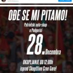 Povodom pozivanja na javno okupljanje zakazano za sjutra (28.12.2020. godine)
