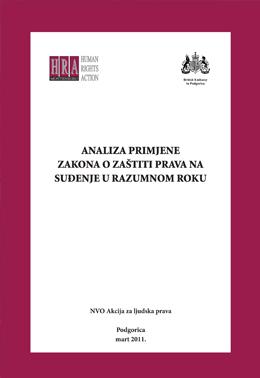 HRA - Analiza primjene zakona o zastiti prava na sudjenje