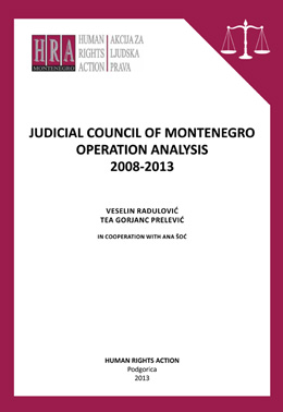 Judicial Council of Montenegro Operation Analysis (2008-2013)