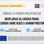 Konkurs za podršku projektima OCD u Crnoj Gori