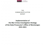 Implementation of the War Crimes Investigation Strategy of the State Prosecutor's Office of Montenegro (2015-2021)